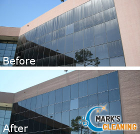 Beofre and After Window Cleaning
